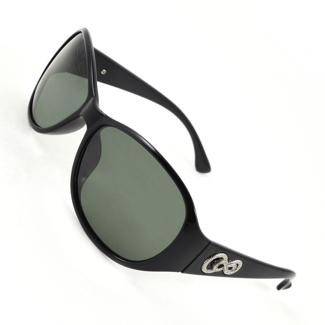 Women Black Full Frame Single Bridge Outdoor Fishing Polarized Sunglasses