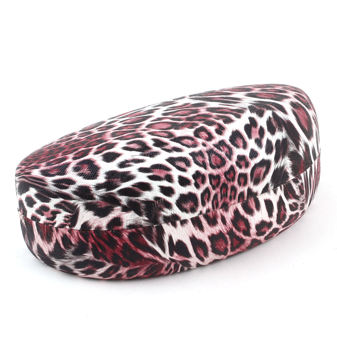 Black White Red Leopard Pattern Sunglasses Spectacles Box Case Holder Container