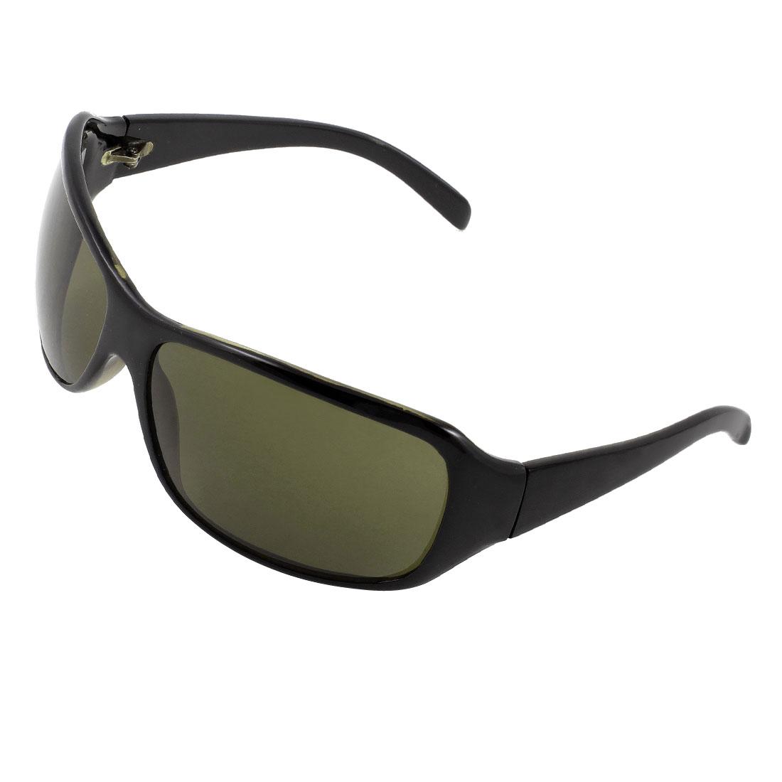 Black Full Rim Single Bridge Colored Lens Outdoor Sunglasses for Unisex