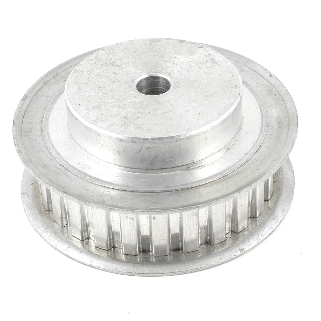 20mm Belt Width 10mm Bore 26 Tooth Synchronous Timing Pulley Silver Tone