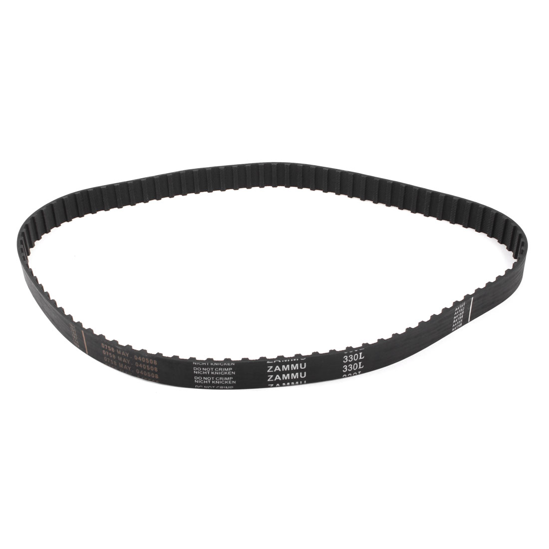 "9mm Pitch 31.5"" Inner Girth 20mm Width Synchro Timing Belt Black"