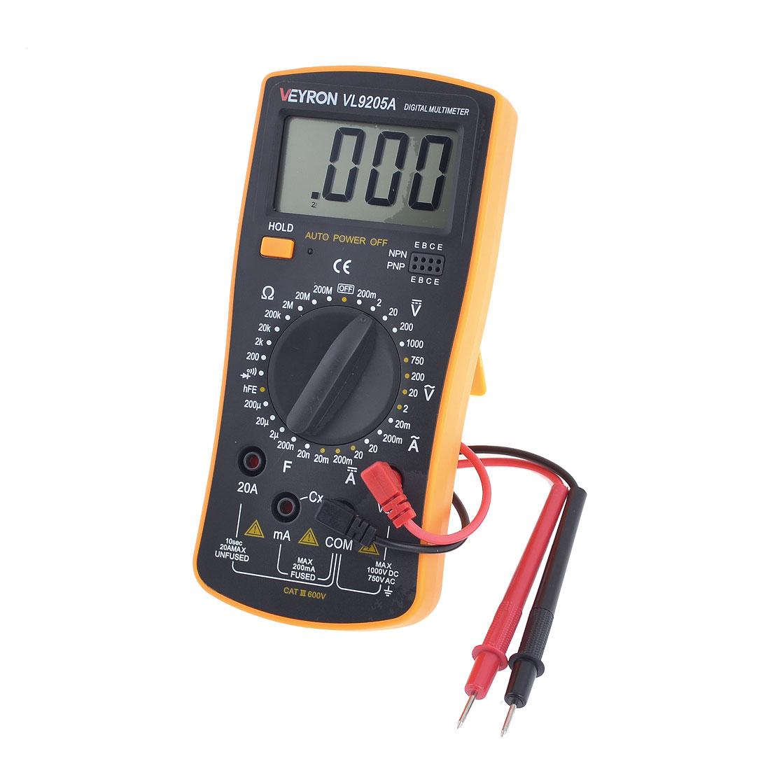 VL9205A Multi Function Voltmeter Ammeter Ohm Test Meter Multimeter