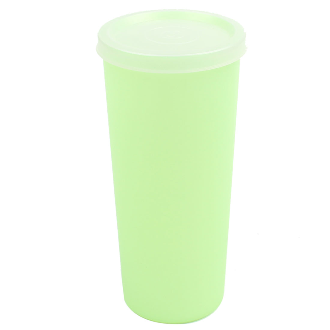 Home Office 380ml Capacity Pale Green Plastic Cylinder Water Cup