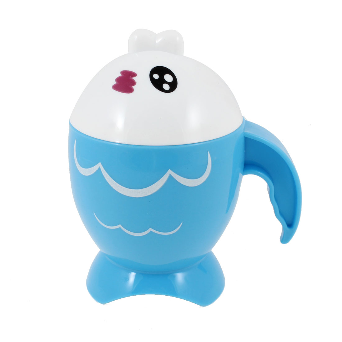 Fish Shaped Special Handle Design White Lid Blue Water Cup 220ml