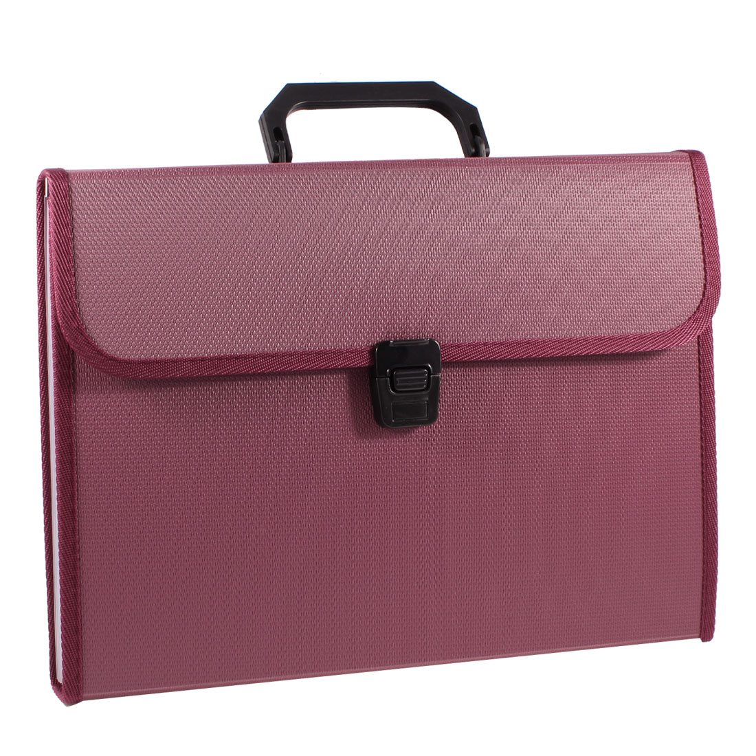 Burgundy A4 Paper Pen Document Qucik Release Buckle File Bag Holder