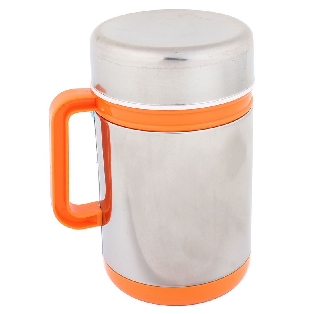 Nonslip Handle Stainless Steel Shell 300ml 10 OZ Water Tea Cup Mug Orange