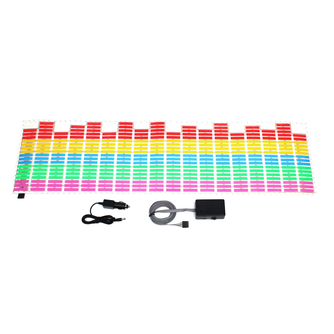 Vehicle Car Windshield Colorful LED Lamp Sound Music Activated Equalizer Sticker
