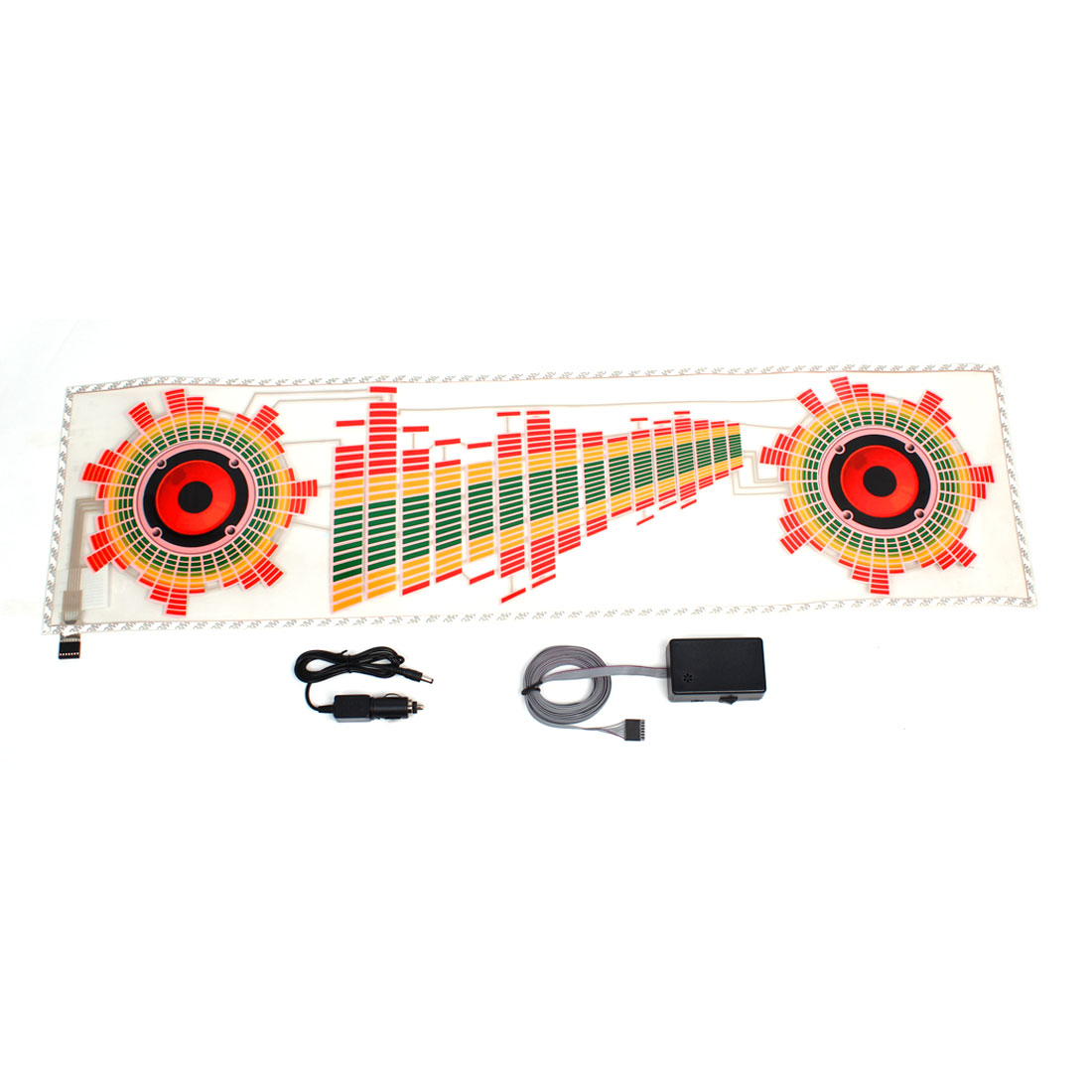 Speaker Pattern Car Sound Rhythm Flash Light Sound Activated Equalizer Sticker