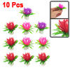 "10 Pcs 2.2"" High Green Fuchsia Emulational Aquarium Fish Tank Plants Decoration"