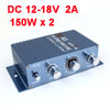 Car Vehicle 150W DC 12V-18V Mini Hifi Stereo Audio Power Amplifier Blue