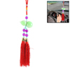 House Car Rooms Red Green Tassel Glass Gourd Purple Beads Pendant Hanging Decor