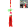 Cars Fuchsia Beads Detail Glass Gourd Pendant Tassels Hanging Decor Red Green