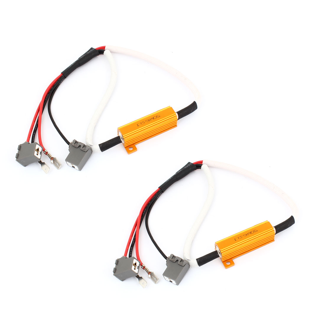 2PCS Car H3 H1 Daytime Running Light Erro Free Resistor Warning Canceler Decoder