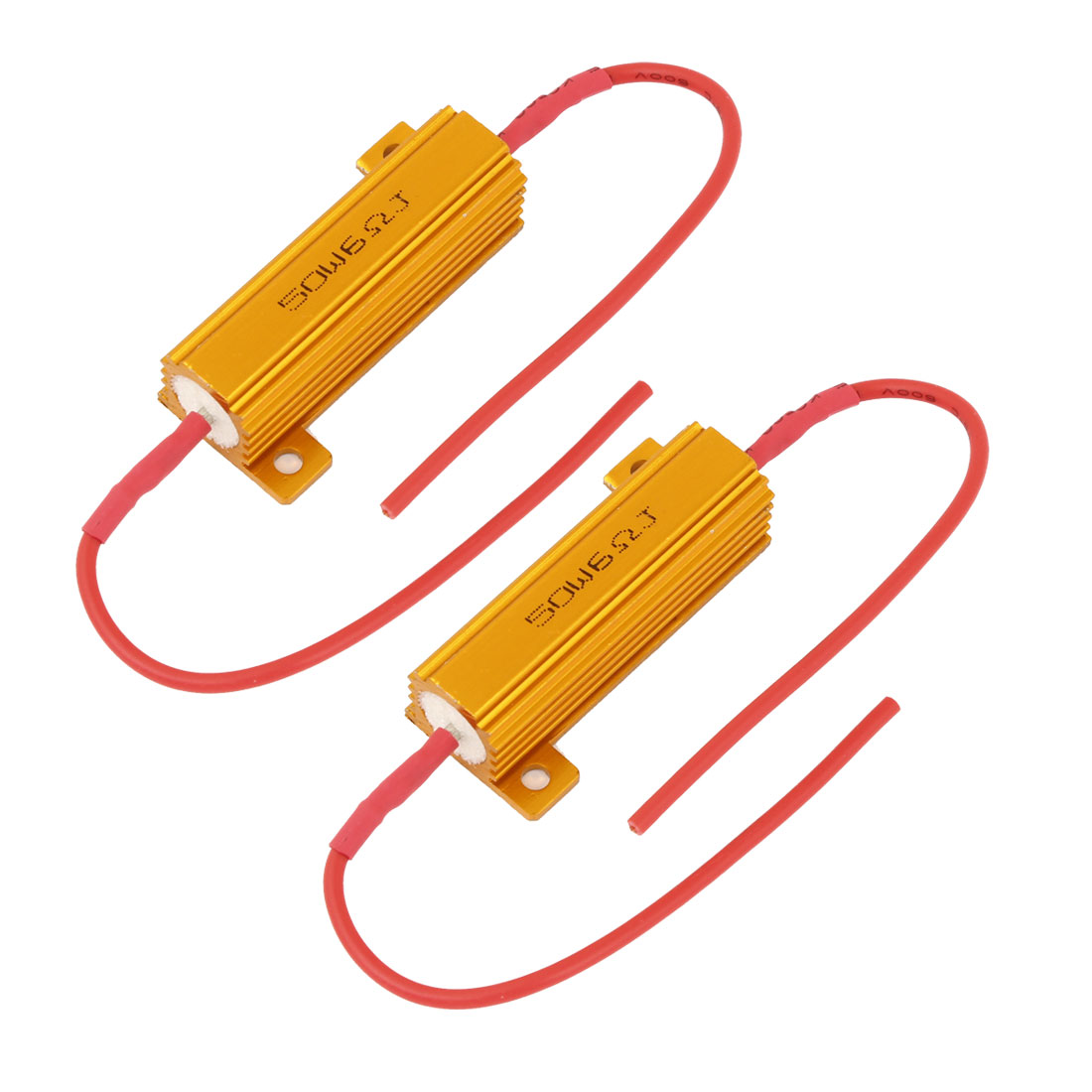 2PCS Car Daytime Running Light Error Free 6 Ohm Resistor Warning Canceler Decoder