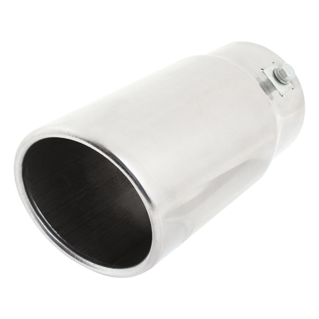 Car Auto 74mm Inlet Dia Exhaust Pipe Tail Muffler Tip Replacement Silver Tone