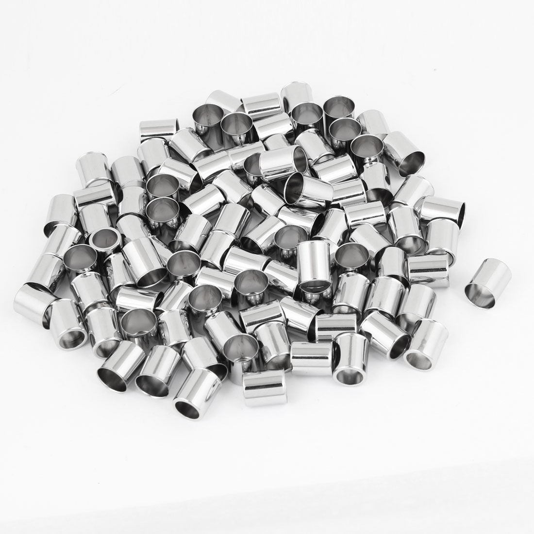 100PCS Car Vehicle Silver Tone Alloy Tire Wheel Tyre Stem Valve Cap Sleeve