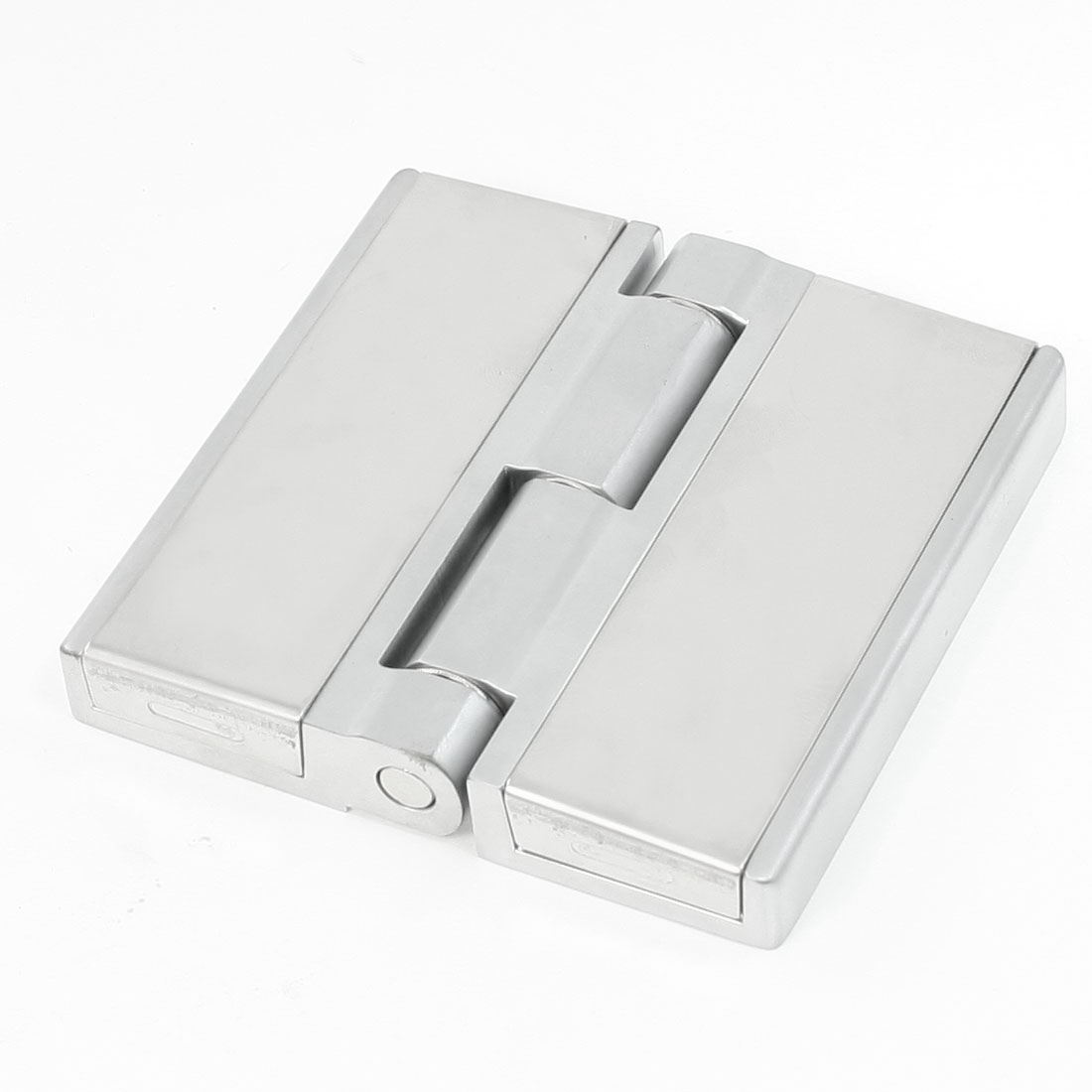 10cmx10cm Silver Tone Stainless Steel Cabinet Window Door Hinge