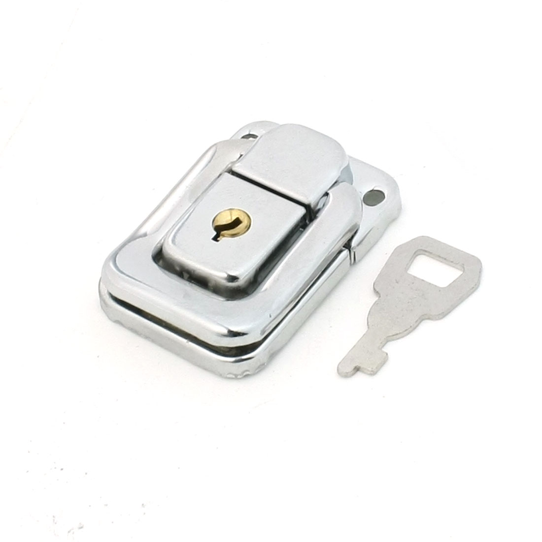 4.8cmx3.2cm Silver Tone Metal Chest Boxes Case Toggle Catch Latch