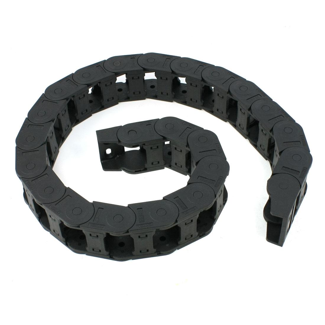 25mm x 38mm Flexible Semi Enclosed Towline Drag Chain Carrier 100cm