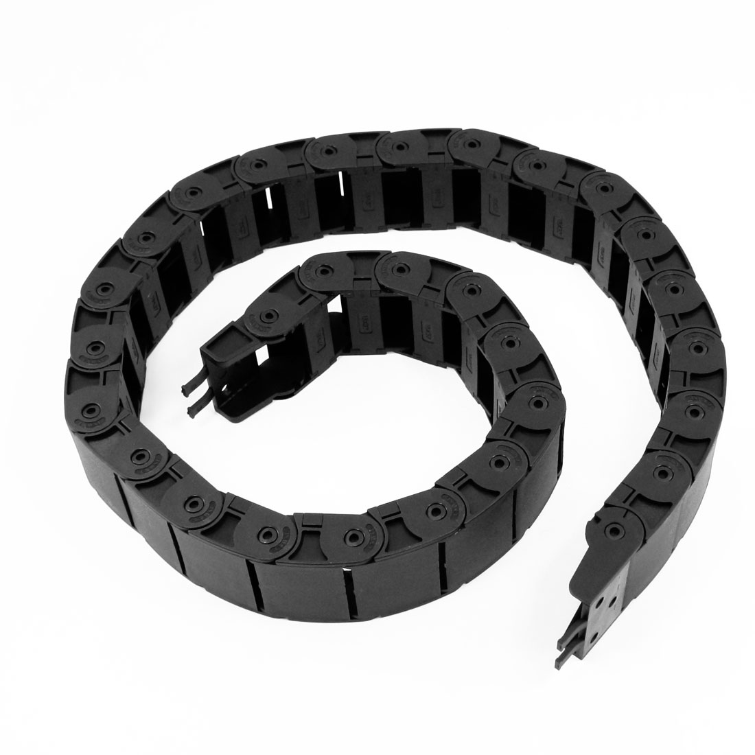 100cm Length Machine Plastic Towline Drag Chain Black 18mm x 37mm
