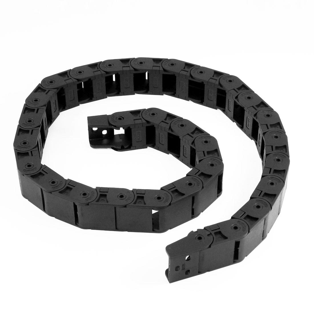 18mm x 25mm Flexible Semi Enclosed Towline Drag Chain Carrier 100cm