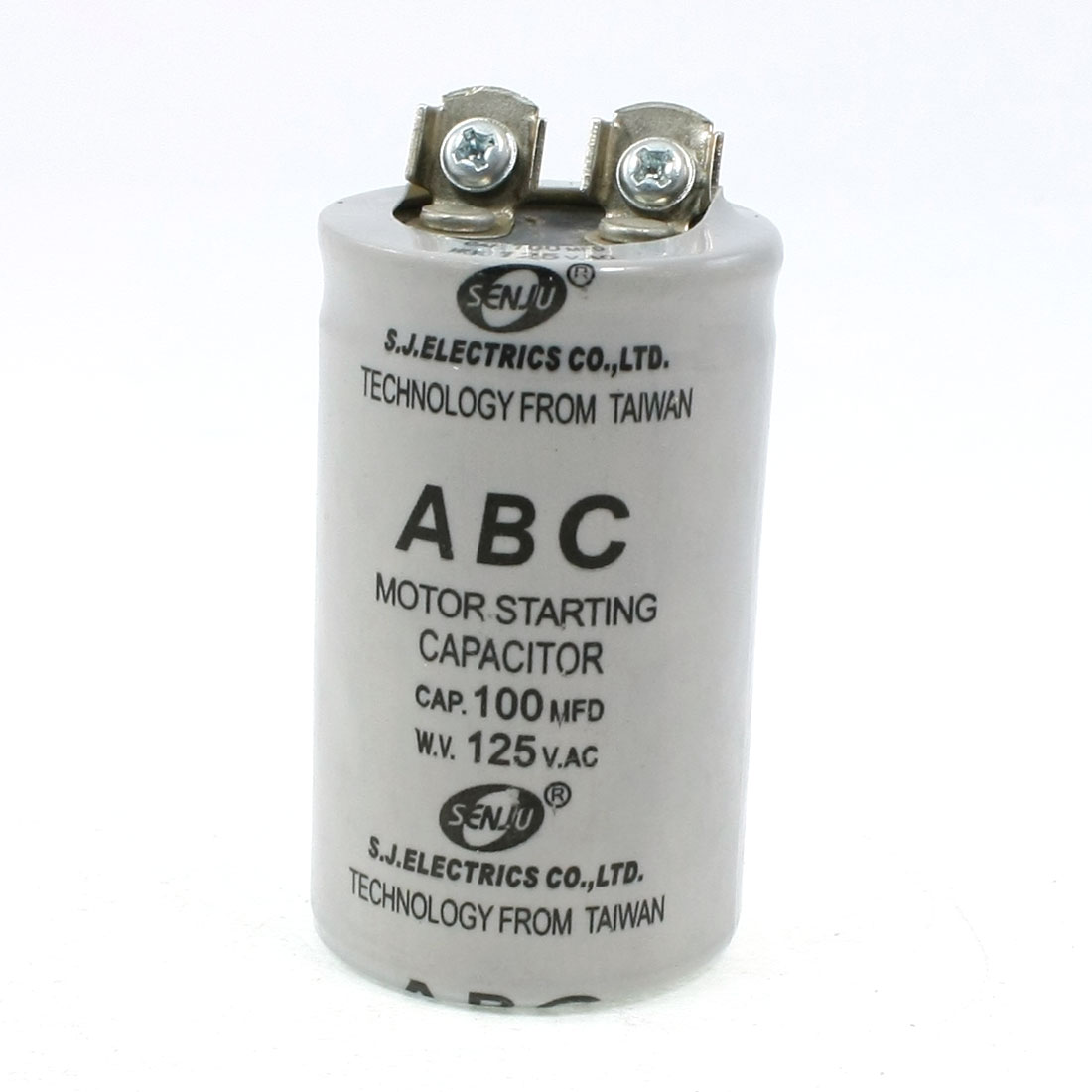 Cylinder Shaed Motor Start-up Capacitor 100MFD 125V AC