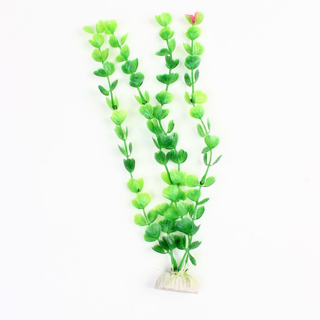 "Fish Tank Green Emulational Plastic Aquatic Grass Plant 11.8"""