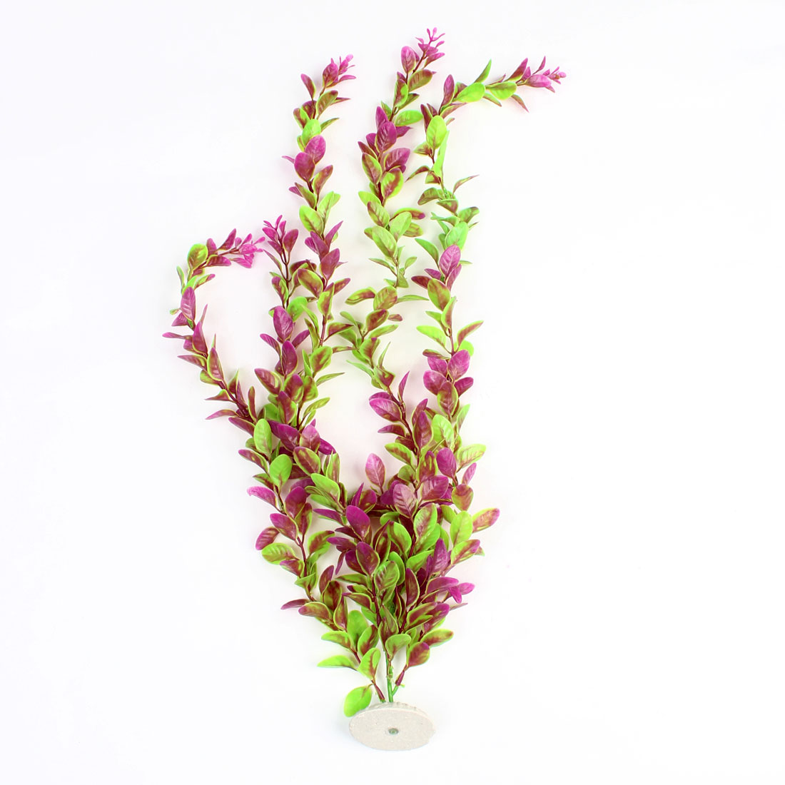 Aquarium Fishtank Decor Ceramic Base Green Fuchsia Underwater Plant 54cm High