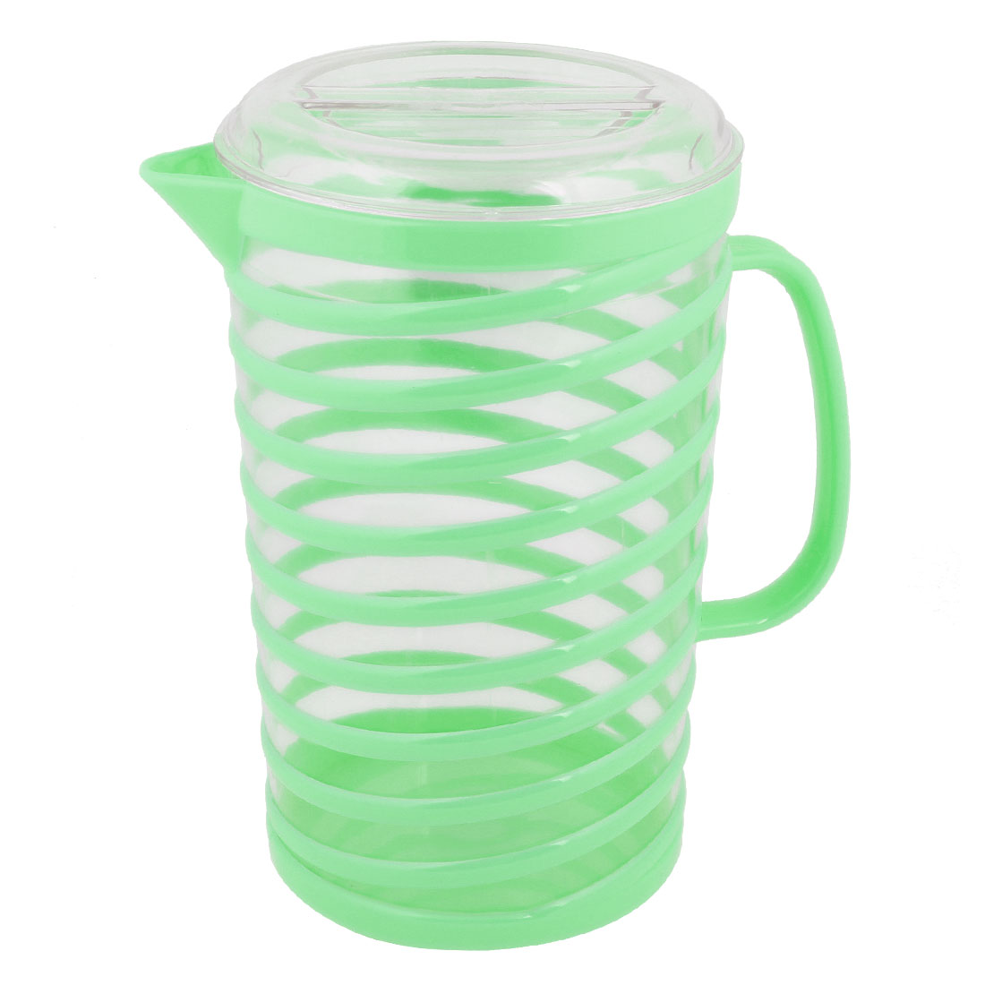 Light Green Clear Plastic Shell 1800ml Capacity Cooler Water Pitcher Holder