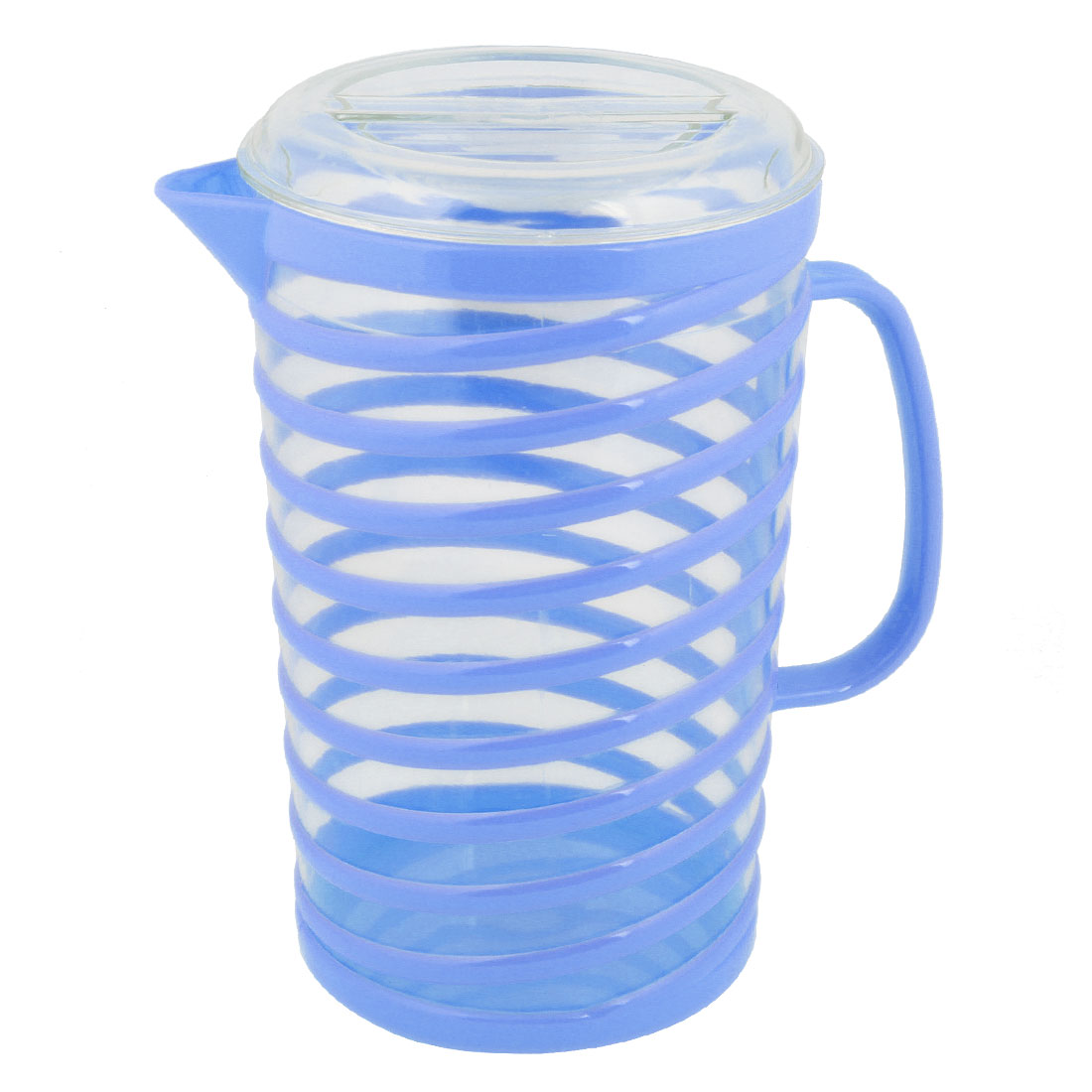 Blue Clear Plastic Body Coolling Cooler Water Bottle Pitcher 1800ml