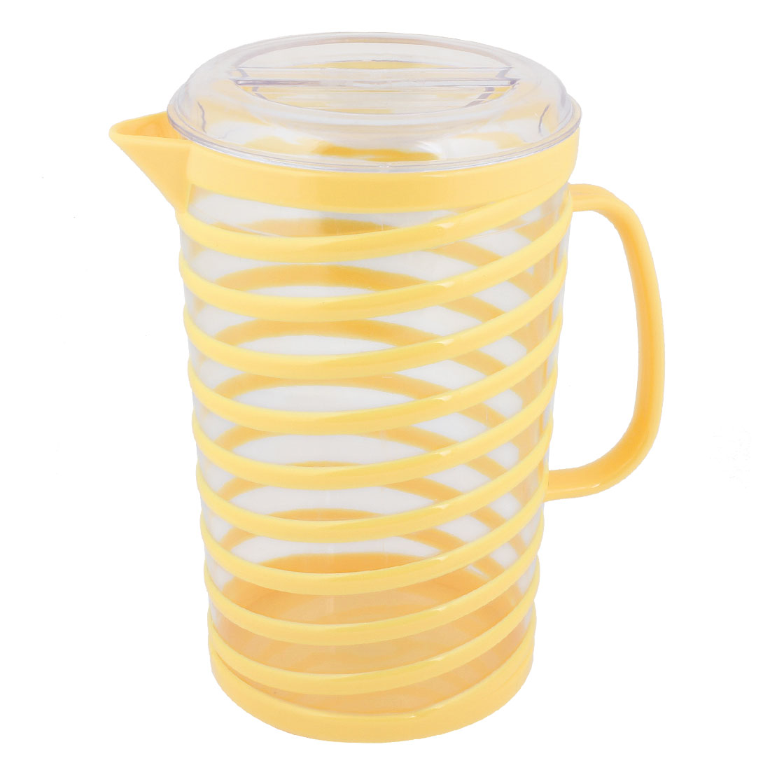Home 1800ml Capacity Nonslip Handle Coolling Cooler Water Pitcher Yellow Clear