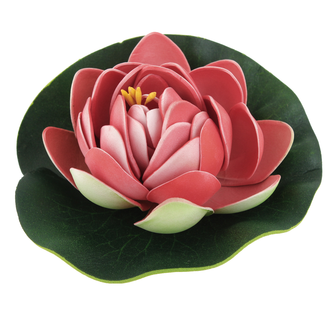 "Aquarium Red Green 3.9"" Dia Emulational Lotus Flower Floating Plant"