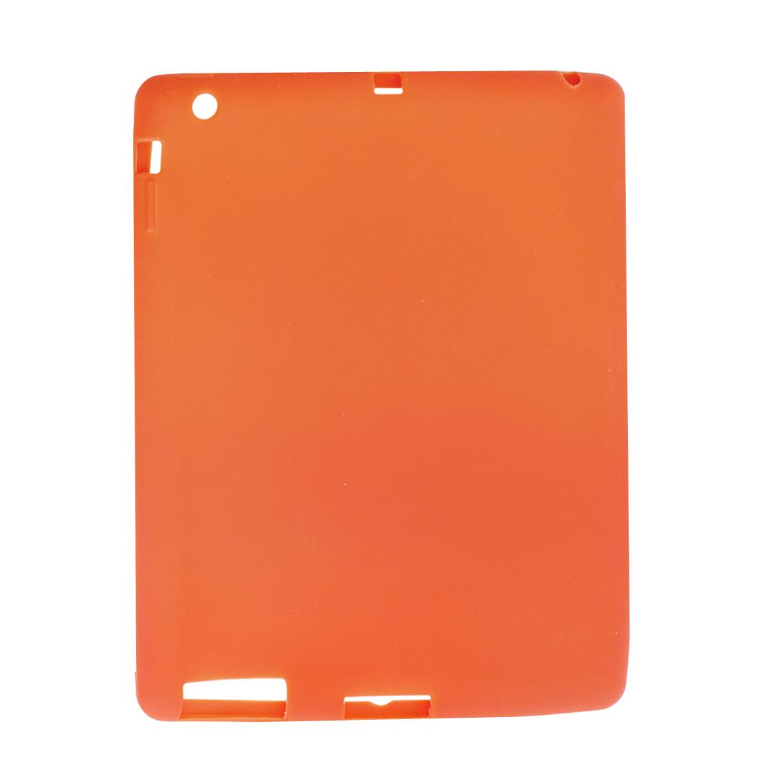 Orange Non-Slip Cover Case Silionce Skin for Apple iPad 2 3 4