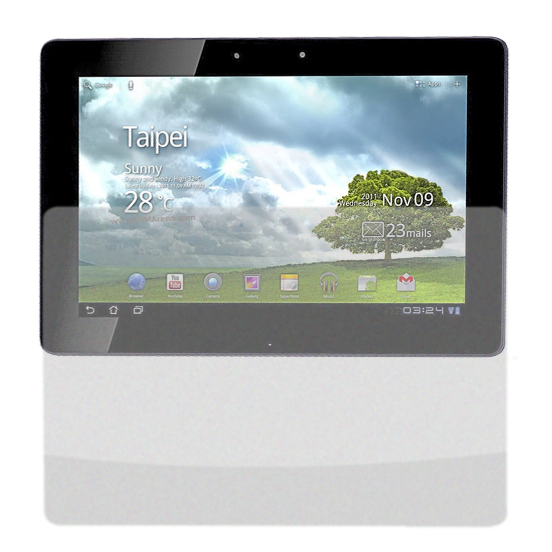 Front Anti-Glare Screen Guard Film Protector for Asus TF201