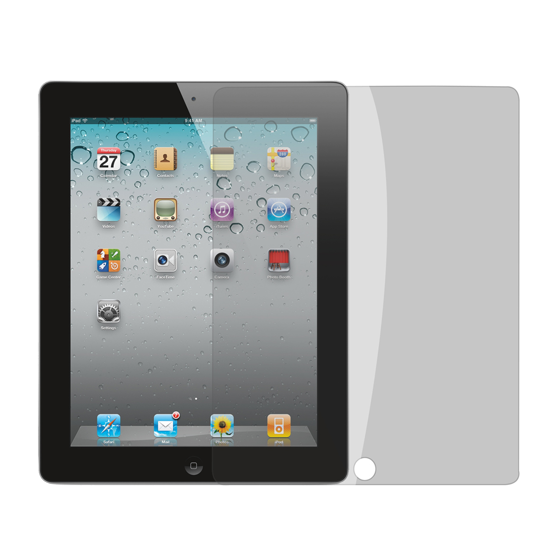 2pcs Front Clear w Anti-Peep Screen Guard Film Protector for iPad 2/3/4
