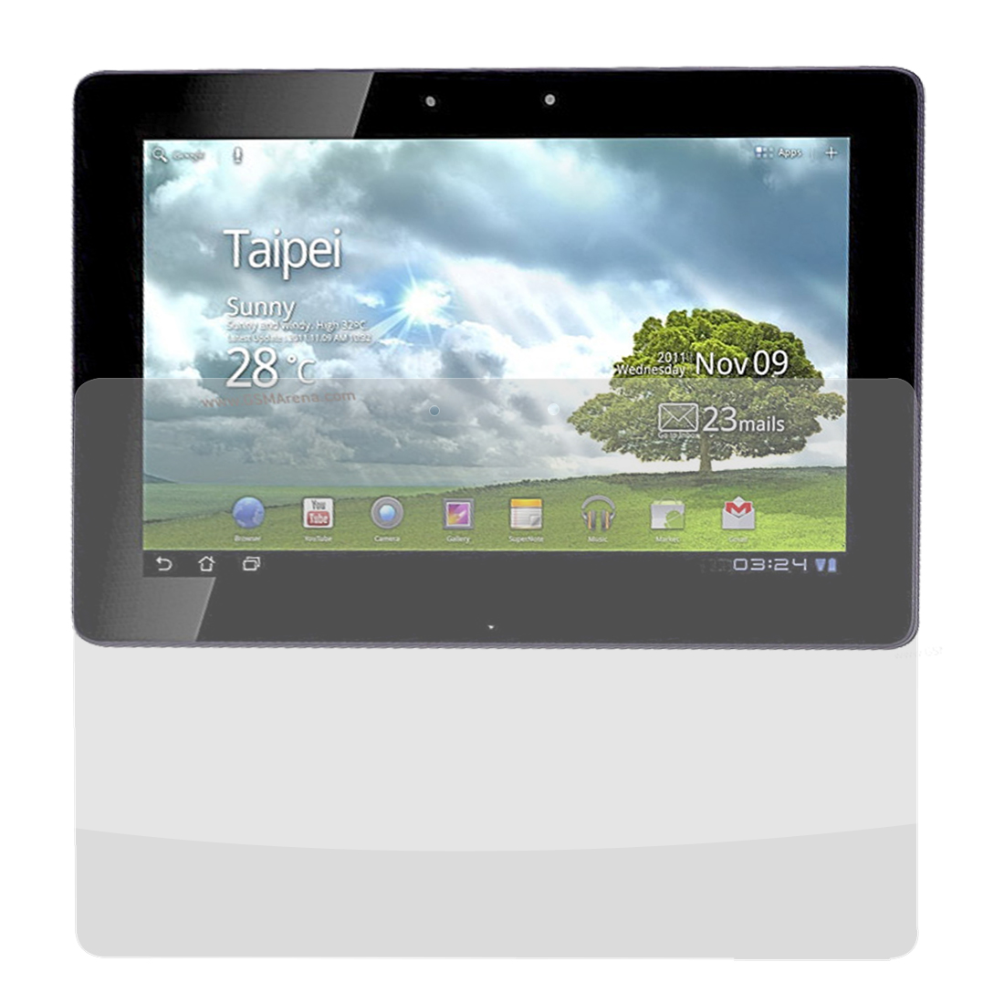 Front Clear Screen Guard Film Protector for Asus TF201
