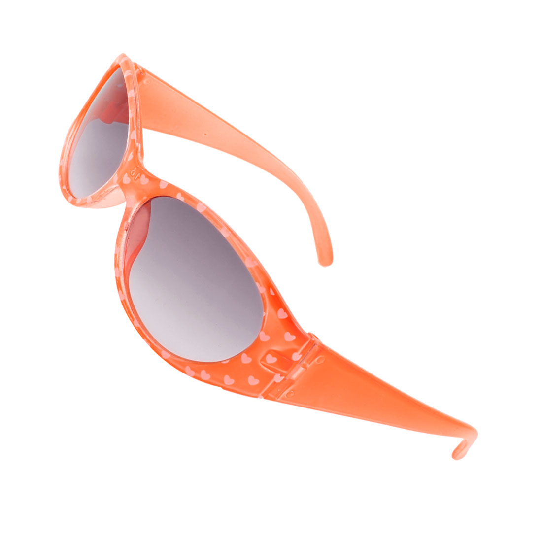 Orange Plastic Full Rim Single Bridge Sunglasses for Kids Children