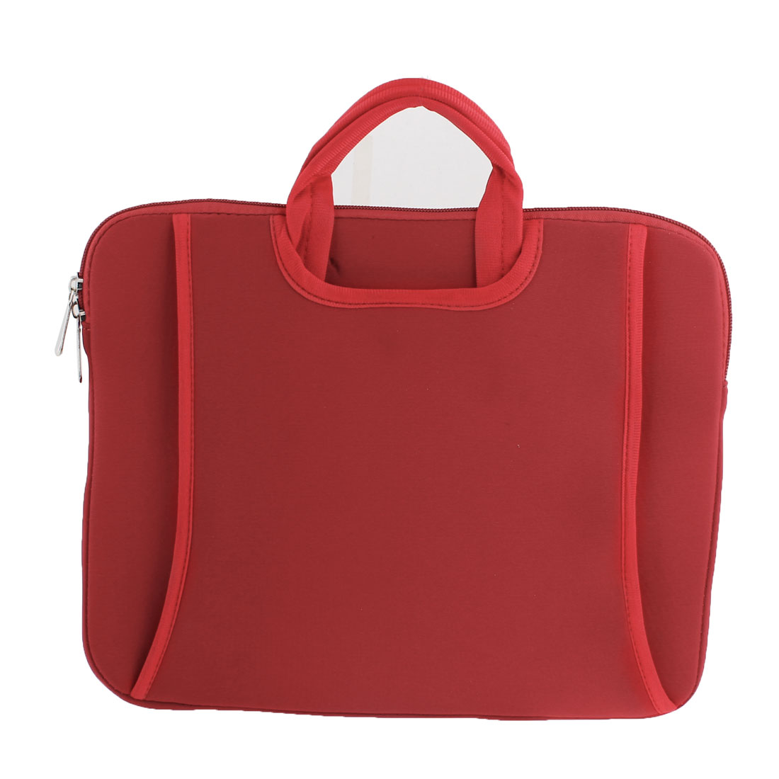 "15"" 3 Compartments Laptop Sleeve Bag Pouch Red w Handle"
