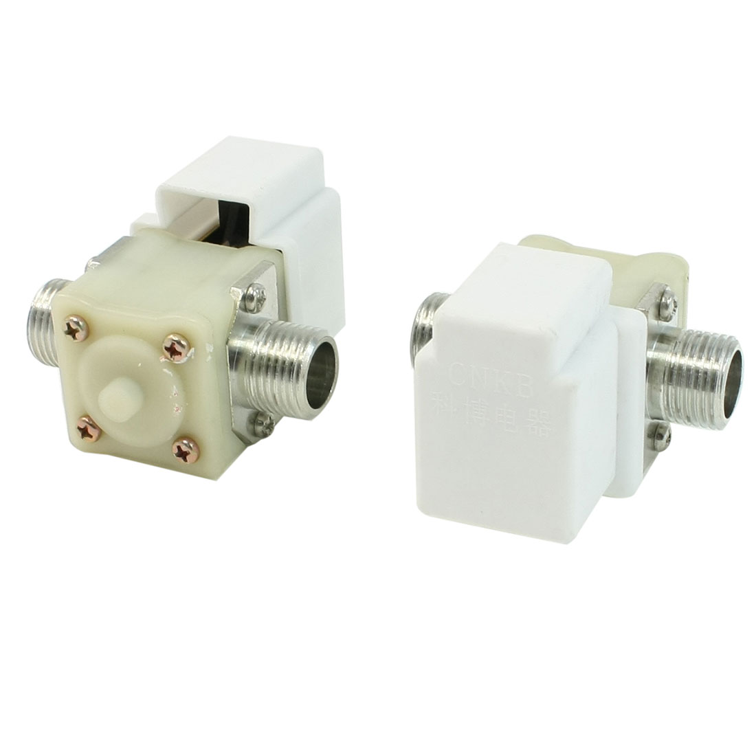 AC 220V 20mm Thead Water Inlet Solenoid Valve for Washing Machine 2 Pcs