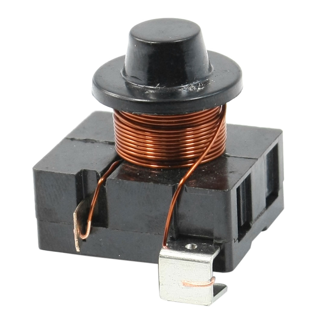 Black Plastic Housing Compressor Relay Starter for 1/6 HP Refrigerator