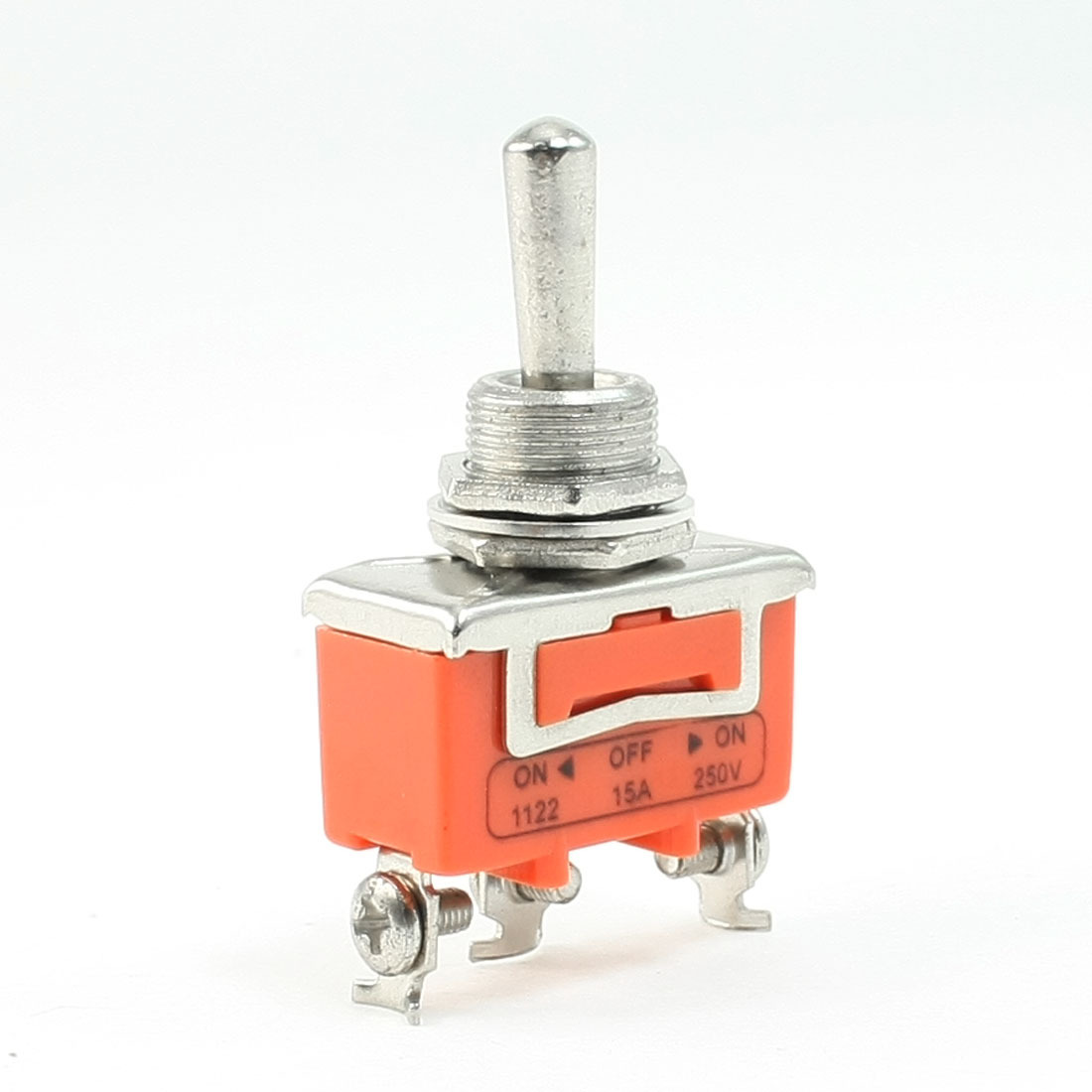 AC 250V 15A 3 Posittions Latching ON/OFF/ON SPST Toggle Switch