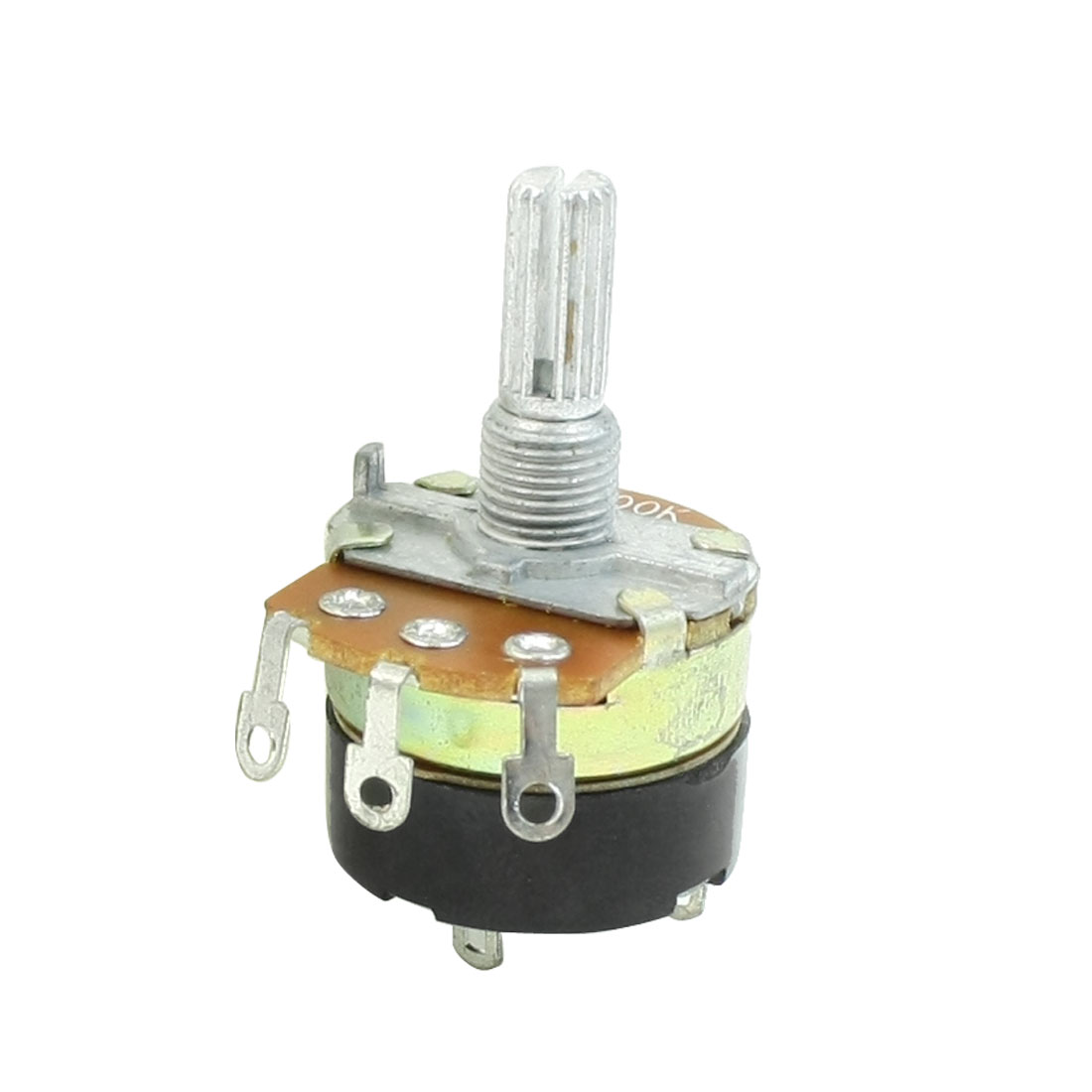 Single Linear Carbon Rotary Potentiometer Switch 500K Ohm WH138