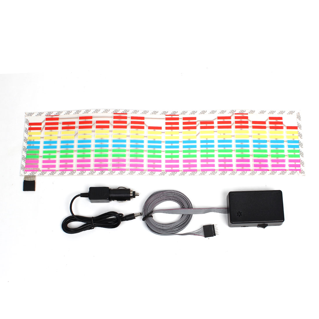 45cm x 11cm Colorful LED Rhythm Lamp Sound Activated Equalizer Sticker for Car