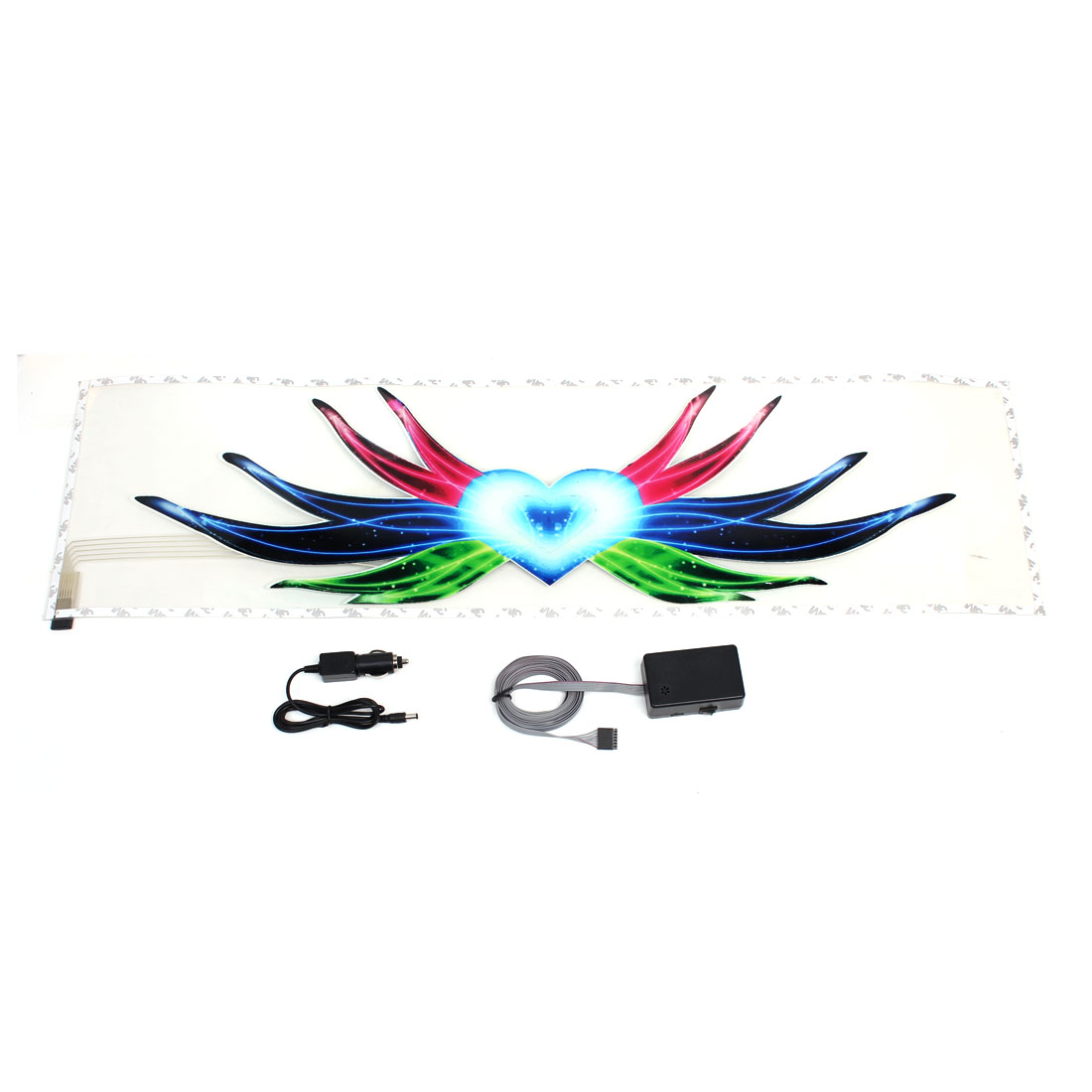 Lotus Pattern Plastic Sticker Music Sound Flash Lamp Equalizer for Car Decor