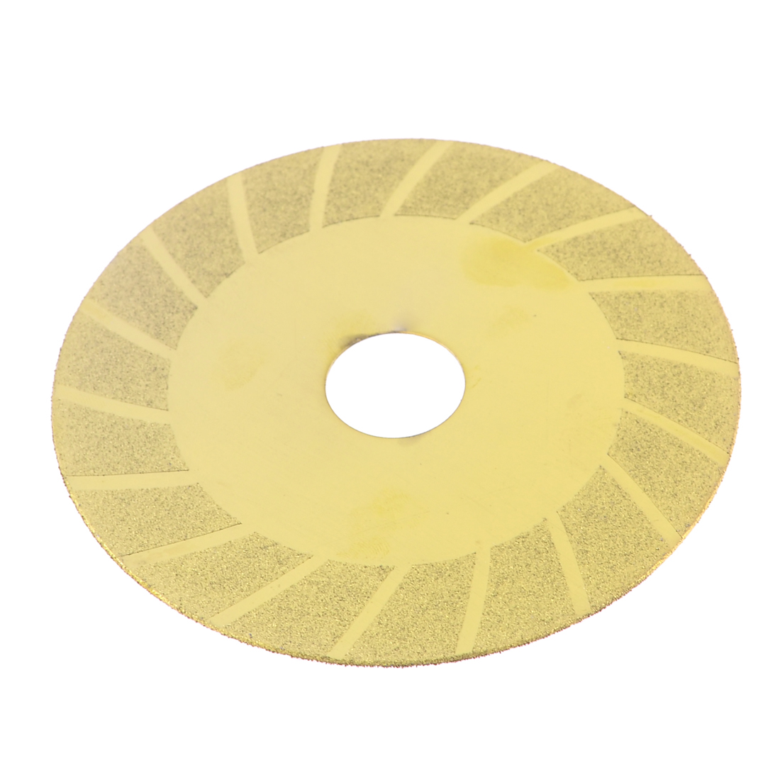 Tile Stone Diamond Cutting Disc Saw Slice 98mm x 20mm x 0.8mm Gold Tone