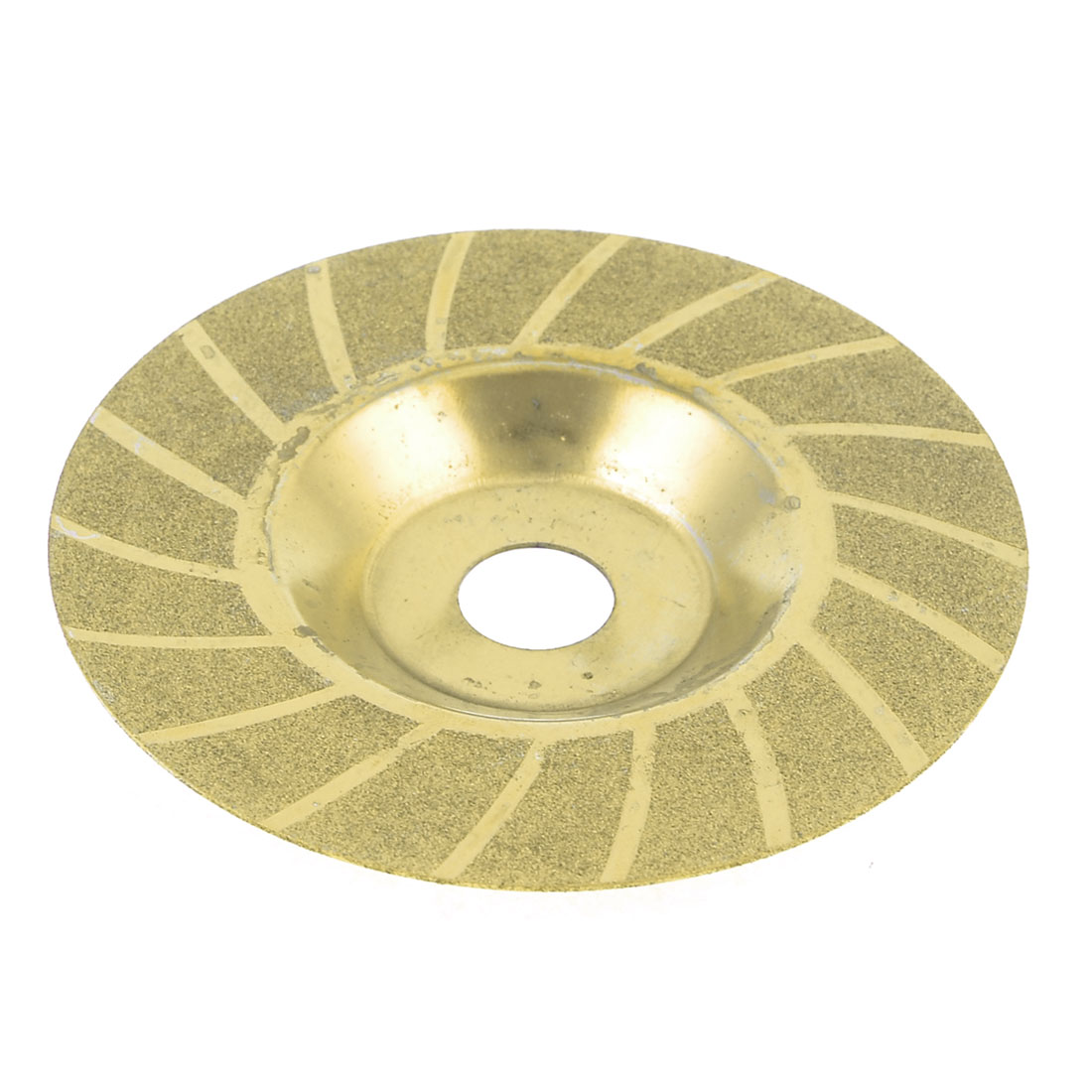 98mm x 16mm x 0.8mm Glass Diamond Saw Slice Cutting Disc Gold Tone