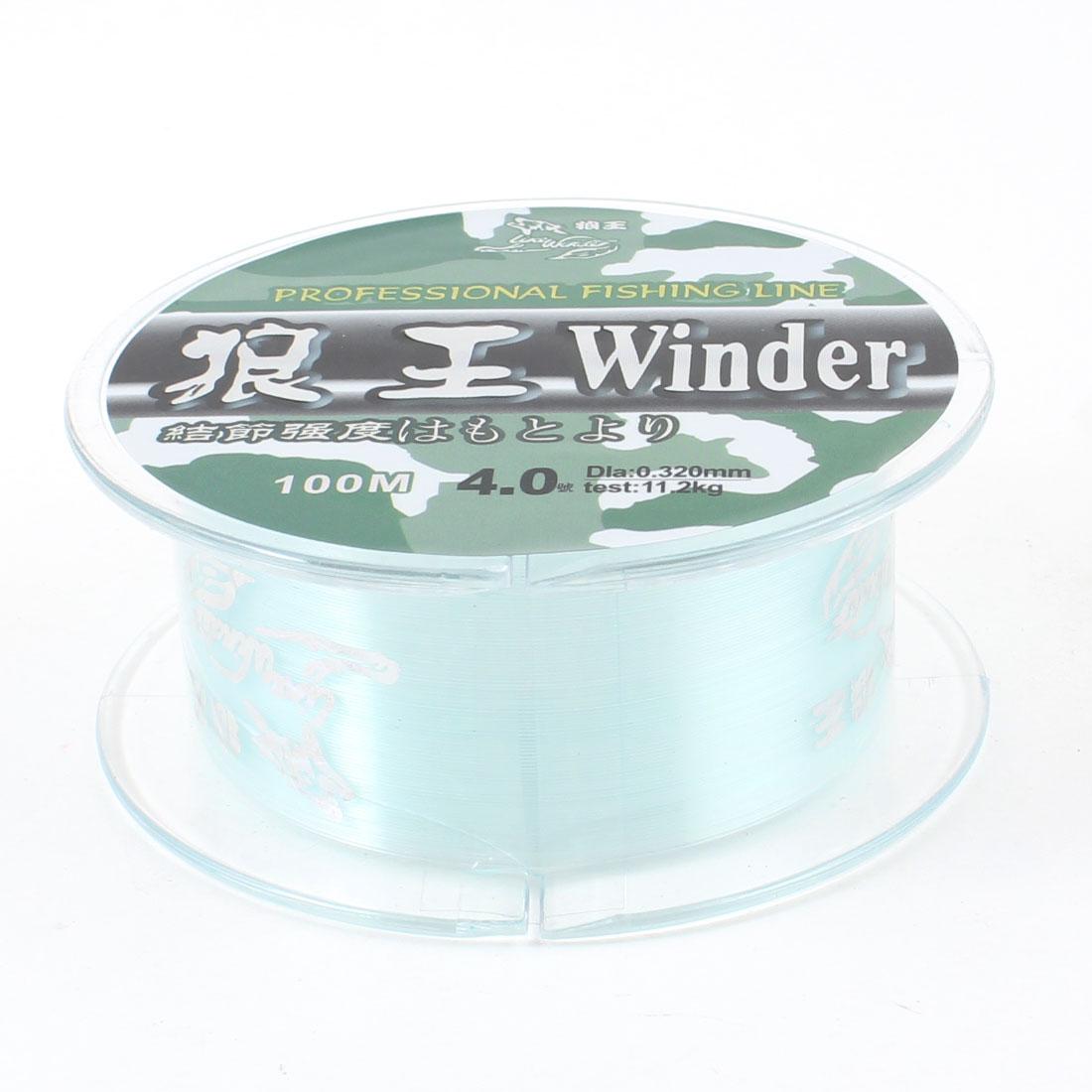 4# 0.32mm Diameter 100 Meter Thread 11.2Kg 25.4lb Fishing Line Spool Blue