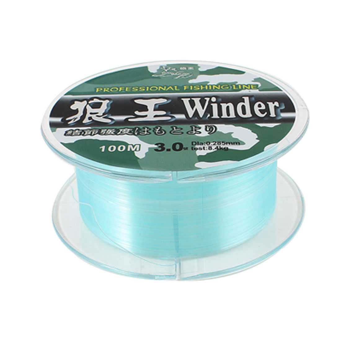 100 Meter Blue 0.285mm Dia 8.4Kg Freshwater Fishing Line Spool 328Ft 3#