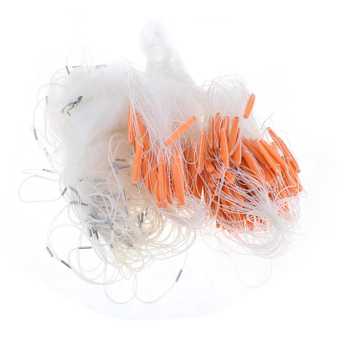 55M x 1.5M 3 Layers White Monofilament 6 x 6cm Hole Size Fish Gill Net