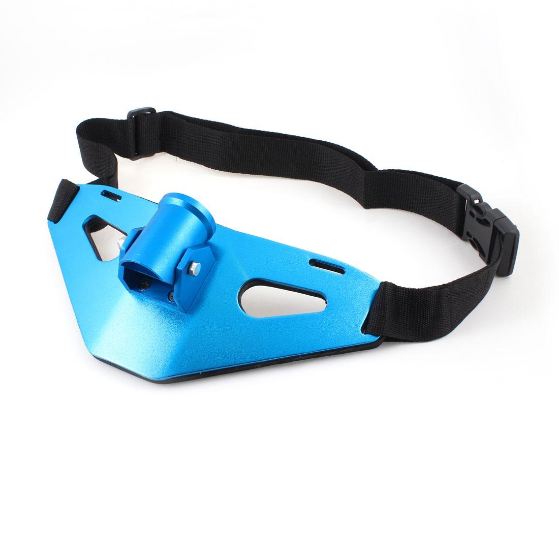 "Fishing Rod Holder Gear Alloy Waist Belly Fighting Belt Blue 1.5"" Inner Dia"